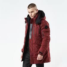 men breathable thick parka 2018 winter coat