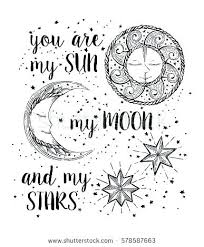 Sun And Moon Coloring Pages Sun And Moon Coloring Pages H Sun Moon