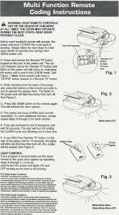 genie garage door opener learn button. Coding Instructions TR300 / SecureCode Genie Garage Door Opener Learn Button O