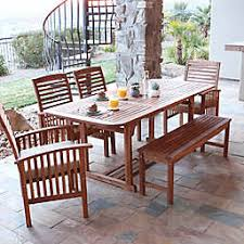 outdoor dining table and chairs. Forest Gate Eagleton Patio 6-Piece Acacia Wood Dining Set With Beige  Cushions Outdoor Dining Table And Chairs I