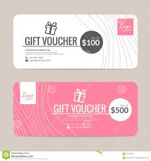 Gift Certificate Template With Logo Gift Voucher Template Stock Vector Illustration Of Fashion
