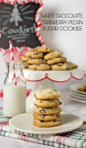 white chocolate cranberry pecan sugar cookies w printable recipe card