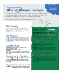 5 weekend itinerary templates free sample, example format Wedding Week Itinerary Template wedding weekend itinerary template wedding week itinerary template design