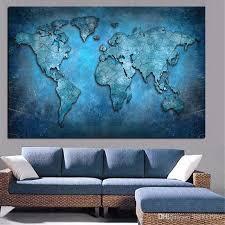 modern wall art 3d world map canvas