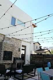 how to hang string lights on covered patio inspirational