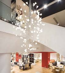 contemporary large chandeliers intended for widely used led jogg twisted chandelier for large spaces