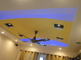 Decorations:Yellow Vaulted Ceiling Design Complete With Ceiling Fan Also  Round Ceiling Under Mount How
