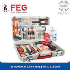 Bộ máy khoan bắt vít dùng pin FEG EG-B12CD - Hàng Chính Hãng - mintmart.vn
