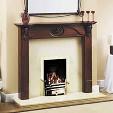gb mantels somerset brown mahogany fireplace suite