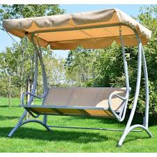Perfect Patio Swing For Garden Featuring Sun Cover