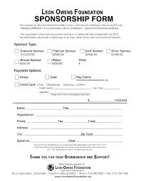 Sponsorship Commitment Form Template Form Templates Contract Natcon