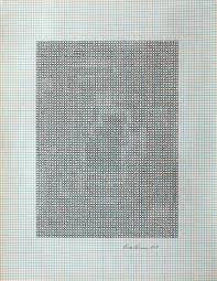 Eva Hesse No Title 1967 Ink On Graph Paper 10 7 8 X 8 1 2