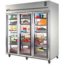 Glass Door Home Refrigerator True Sta3r 3g Specification Series 77 Three Glass Door Reach In