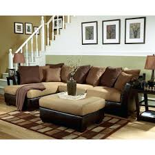 leather and suede sectional oval red traditional iron tables sectional sofas central as well as sectionals furniture green room leather suede sectional
