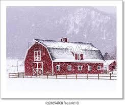 red barn door clip art. free art print of red barn in the snow door clip