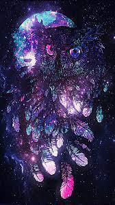 Owl wallpaper, Galaxy wallpaper, Owl ...