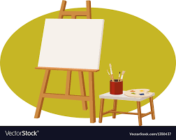 canvas stand vector image
