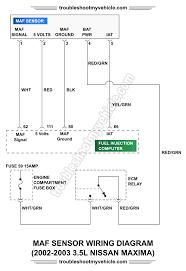part 4 how to test the maf sensor (2002 2003 3 5l maxima) 02 Maxima SE Motor Mounts at 02 Maxima Wiring Diagram Engine