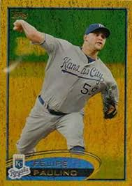 Amazon.com: 2012 Topps Gold Sparkle #38 Felipe Paulino Kansas City Royals  MLB Baseball Card NM-MT: Collectibles & Fine Art