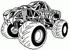 Small Picture Free Printable Monster Truck coloring page for boy Summe