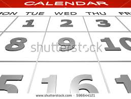 3 D Calendar Render Monthly Dues Bill Stock Illustration 596644121 ...
