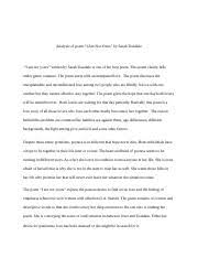 final paper poetry analysis i do not love you except because i 4 pages final paper 1