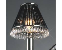 crystal clip on shade only with black glass rods