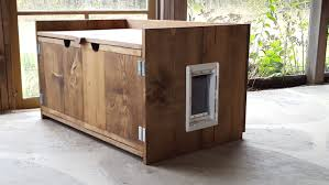 cat litter box cabinet system  bench decoration
