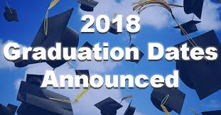 Image result for graduation dates