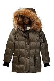 S13 Coat Size Chart S13 Chelsea Faux Fur Hooded Gloss Down Coat Toddler Little Girls Nordstrom Rack