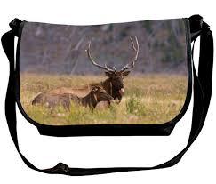 Moose Design Bags Amazon Com Multifunction Shoulder Bag American Elk Printed