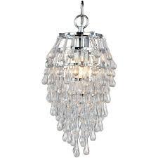 af lighting crystal teardrop 1 light chrome mini chandelier 4950 1h regarding mini chandelier