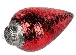 Formano Dekohänger Zapfen Aus Glas Antik Rot 40 Cm Weihnachtsbaumschmuck Christbaumschmuck Christbaumdekoration Weihnachtsbaumdekoration