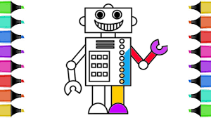 Small Picture How to Draw Robot Coloring Book Coloring Pages for Kids with