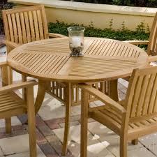 grand hyatt round teak dining table