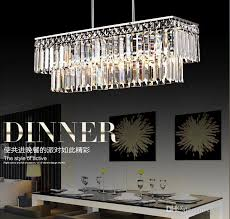 65 19 62cm rectangle crystal pendant light polished chrome pipe erected ceiling lamp restaurant dining room modern restaurant chandelier crystal pendant