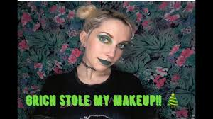 how the grinch stole my makeup tutorial