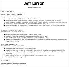 Dance Teacher Resume Sample How To Write A Dance Teacher Resume