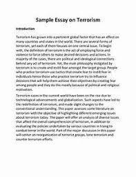 essay terrorism  essay terrorism