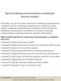 Marketing Communications Resume Resume For Your Job Application