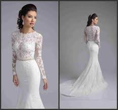 Cheap Long Sleeve Lace Wedding Dresses