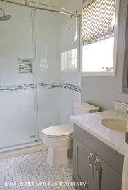 bathroom features gray shaker vanity: boys bathroom basketweave subway tile grey white shaker vanity chevron