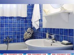 Bathroom Design Blue Tiles Decobizzcom