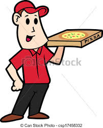 pizza delivery clipart. Plain Delivery Cartoon Delivery Pizza  Csp17458332 And Pizza Delivery Clipart E