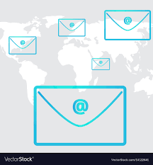 Business Email Social Network In Background World