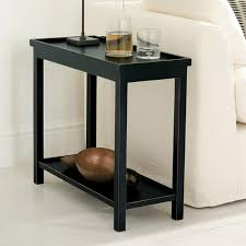 Small Table: Modern Wood Furniture for a Narrow End Table, Narrow Side Table  or
