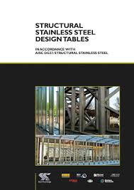 Aisc Manual Design Tables Structural Stainless Steel Design Tables Published Team