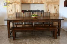 diy farmhouse dining table and bench. full size of table:farmhouse dining table plans ideas wonderful trestle image diy farmhouse and bench a