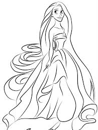 Disney Princess Rapunzel Coloring Pages - Womanmate.com