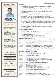 Sample Autocad Drafter Resume Autocad Experience Resume